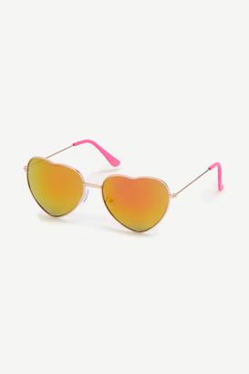 Ardene Tinted Heart Sunglasses