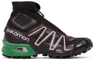 Salomon Black and Purple Snowcross Advanced Sneakers
