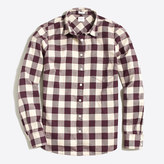 J.Crew Factory Classic button-down shirt in flannel in perfect fit