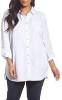 Sejour Plus Size Women's Chambray Tunic Shirt