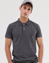 Esprit slim fit organic polo in dark gray