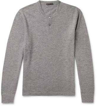 James Perse Melange Cashmere Henley Sweater