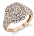 Pave Diamond Pinky Ring