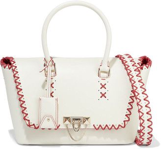 Valentino Demilune Medium Whipstitched Leather Tote