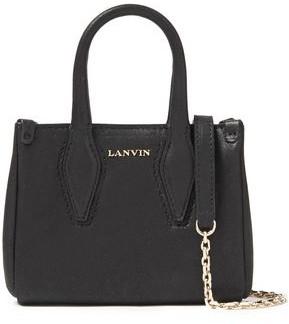 Lanvin Micro Journee Metallic Leather Tote