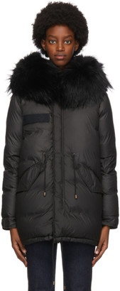 Mr & Mrs Italy Black Down Puffer Jacket
