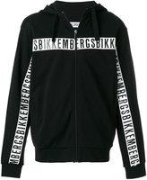 Dirk Bikkembergs logo zip up sweatshirt