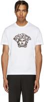 Versace White Studded Medusa Shirt
