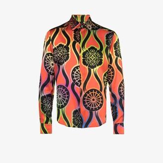 Edward Crutchley Ribbons Printed Silk Shirt - Men's - Silk