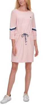 Tommy Hilfiger Drawstring-Waist Shift Dress