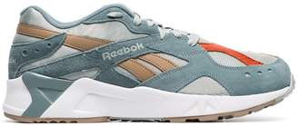 Reebok aqua blue Aztrek low-top suede sneakers