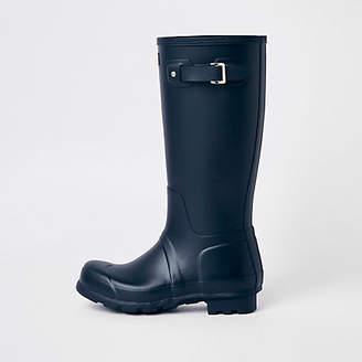 River Island Hunter Original navy tall wellington boots