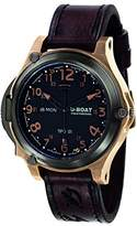 U-Boat Men's Automatic Watch with Black Dial Analogue Display and Brown Leather Strap 7473