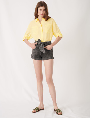 Maje Belted faded shorts