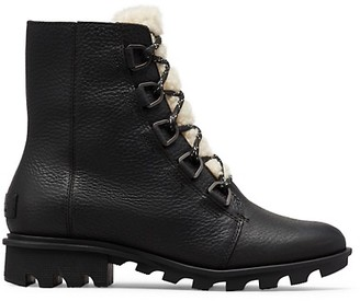 Sorel Phoenix Shearling Leather Combat Boots