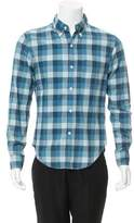 Band Of Outsiders Check Print Button-Up Shirt