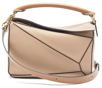 Loewe Puzzle Small Grained-leather Cross-body Bag - Beige Multi
