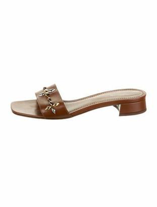 Louis Vuitton Leather Slides Brown
