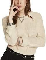 Maison Scotch Women's Fluffy Crew Neck Pullover Knit Jumper,38 (Herstellergröße: 2)