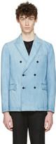 Valentino Blue Denim Double-breasted Blazer
