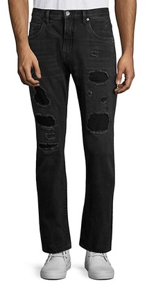 Helmut Lang Destroyed Patch Straight Jeans