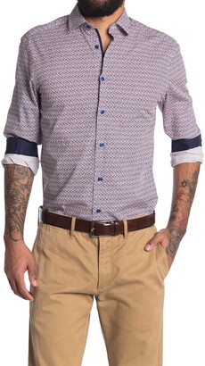 Soul Of London Geo Print Dress Shirt
