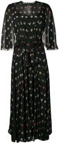 Sonia Rykiel floral cape-style dress
