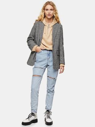 Topshop Sofia Rip Mom Jeans - Bleach Blue