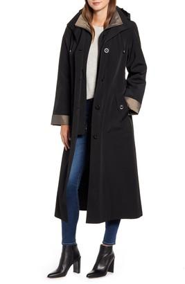 Gallery Full Length Two-Tone Silk Look Raincoat