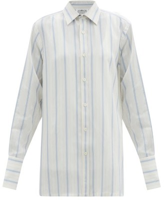 Maison Margiela Jacquard-striped Twill Shirt - Blue Stripe