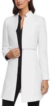 BCBGMAXAZRIA Arelia Zip-Detail A-Line Jacket