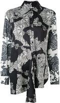 McQ by Alexander McQueen asymmetric shirt - women - Polyester - 40