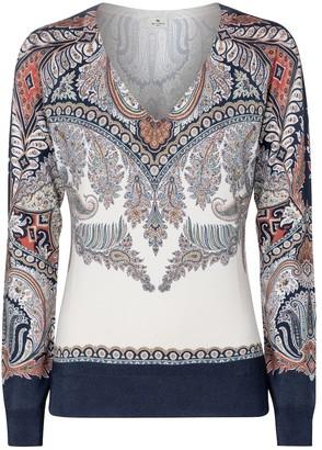 Etro Paisley stretch-silk sweater