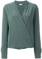 Closed wrap-style blouse - women - Silk - L