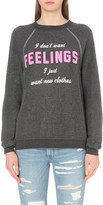 Wildfox Couture I Want New Clothes embroidered sweatshirt