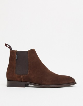 Paul Smith Gerald suede boots in tan