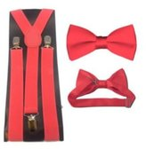 MXI Designs Bow tie and suspender Set Combo Mens sizes