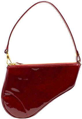 Christian Dior Limited Edition Rouge Vernis Leather Diorissimo 3D Saddle Bag