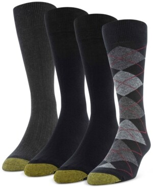 Gold Toe Men's 4-Pack Argyle Special Socks