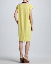 Eileen Fisher Cap-Sleeve Slub Dress