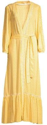 Paloma Blue Bowie Kimono Maxi Dress