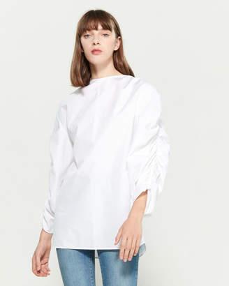 Jil Sander Ruched Sleeve Shirt