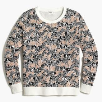 J.Crew Printed crewneck sweatshirt