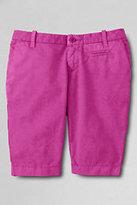 Classic Girls Slim Bermuda Shorts-Umber Stripe