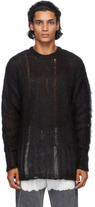 Golden Goose Black Algar Mohair Sweater