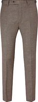 John Lewis John Lewis & Co. Cadogan Semi Plain Tailored Suit Trousers, Brown