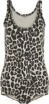 Bottega Veneta Leopard-print cotton-blend bodysuit