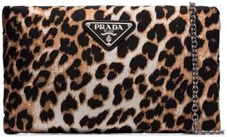 Prada leopard print clutch