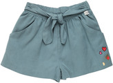 Courage&kind Twill Shorts With Self Tie Half Belt