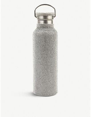 Collina Strada Stainless steel and rhinestone-mesh water bottle
